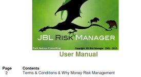 JBL Risk Manager User Manual